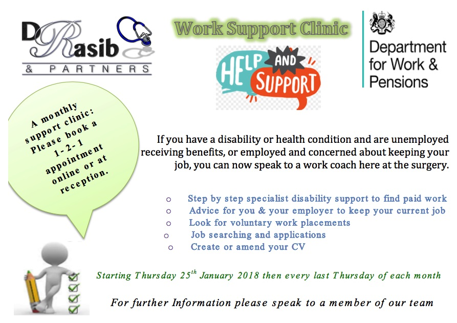 Work Support Clinic Flyer